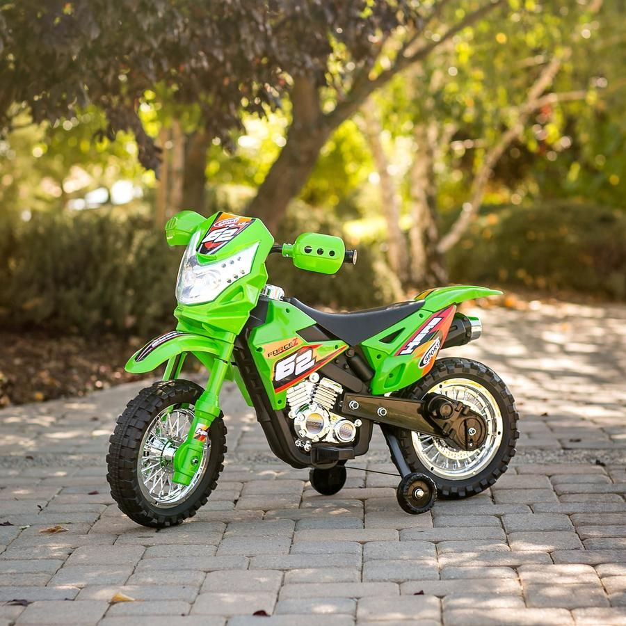 6V Kids Electric Ride-On Motorcycle W/ Training Wheels