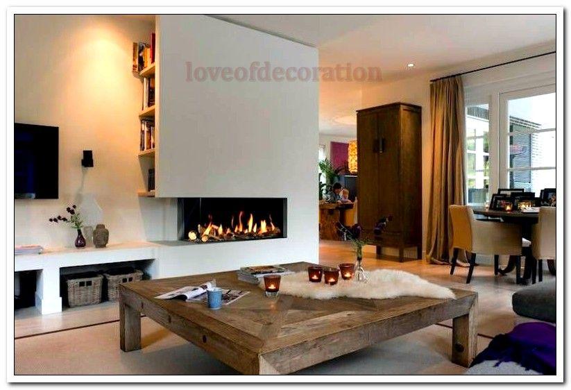 Woonkamer Ideeen Warm : Open haard ideeen voor een warme sfeer #woonkamer #interieur