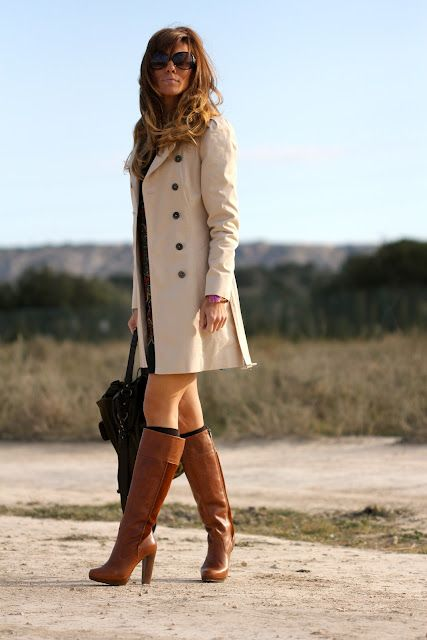 dress/trench/boots