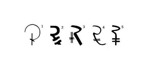Indian Rupee Symbol Symbols