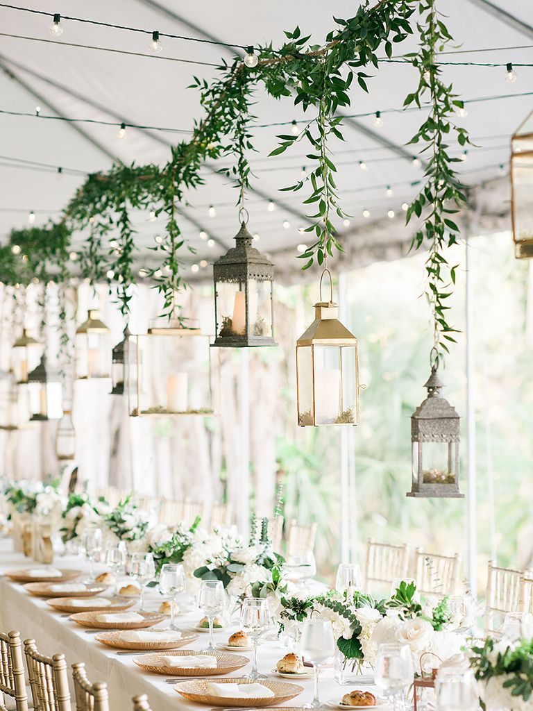 Add Pizzazz To Your Big Day With These Easy And Beautiful Wedding Decoration Ideas Outdoor Wedding Decorations Lantern Decor Wedding Rustic Wedding Reception