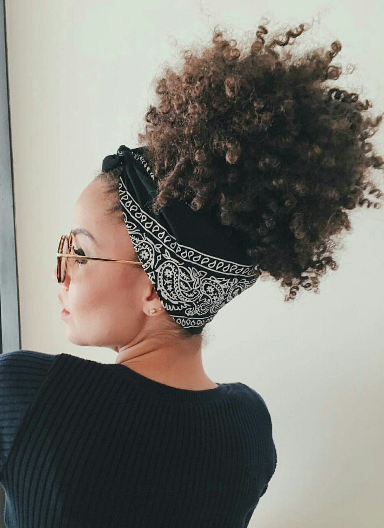 17 Cute Bandana Hairstyles Curly Bangs To Fuel Your ...