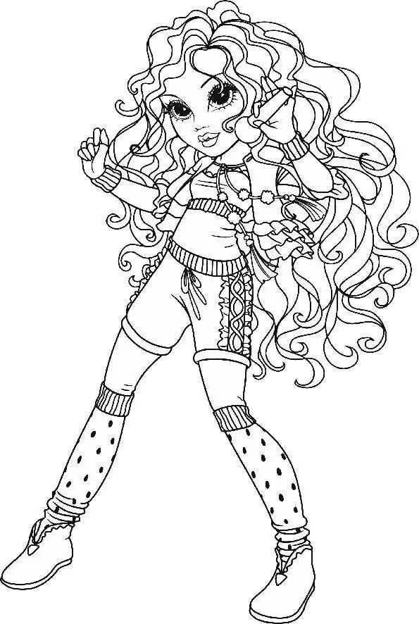 Coloriage mode coloriages dessins anim s pinterest - Dessin de fille de mode ...