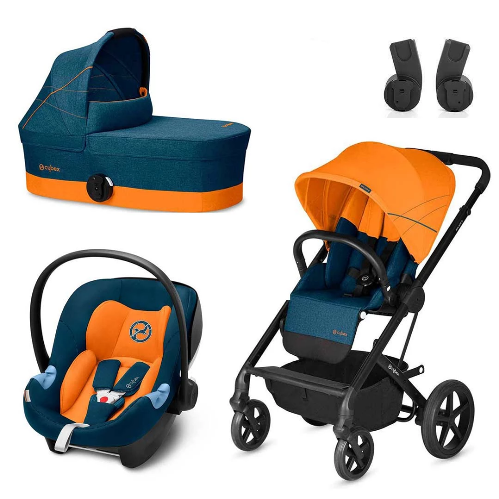The stylish Tropical Blue Cybex Balios S in one complete