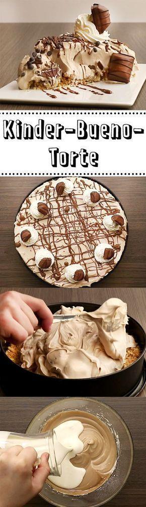 Kinder-Bueno-Torte - so geht's #kuchenideen
