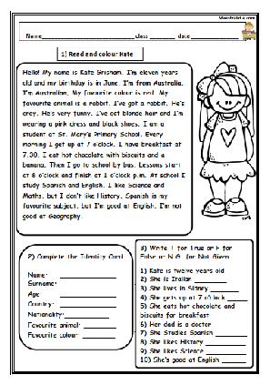 Reading Imparare Inglese Comprensione Della Lettura Lingua Inglese