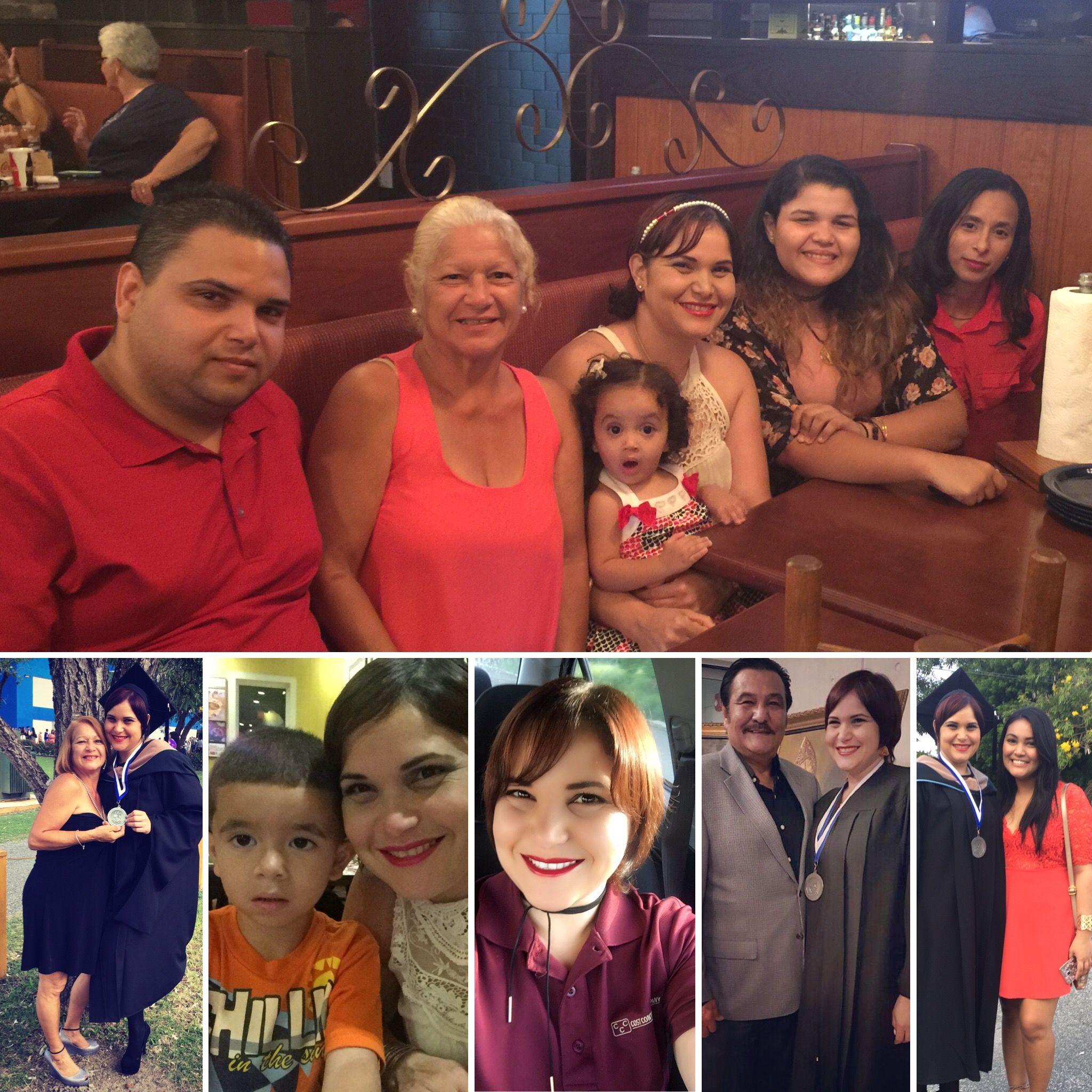 Mi familia y yo. <3 <3 <3 Agradezco cada día al Señor por mi vida y la bendición de ser parte de esta familia.