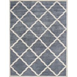 Alliyah Handmade Bluish Grey New Zealand Blend Wool Rug 10 X 12 699 509 For 9x12 Wool Rug Rugs