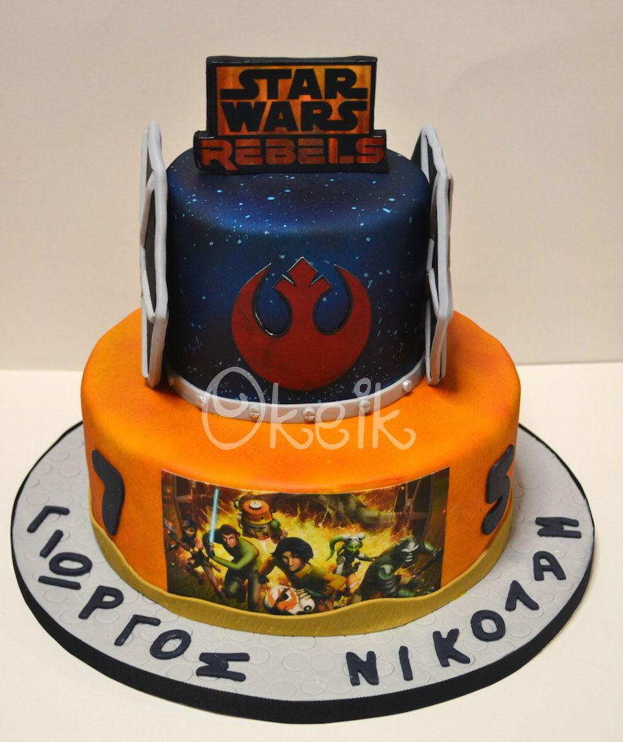 Pleasing Star Wars Rebels Cake Star Wars Birthday Cake Star Wars Rebels Birthday Cards Printable Giouspongecafe Filternl