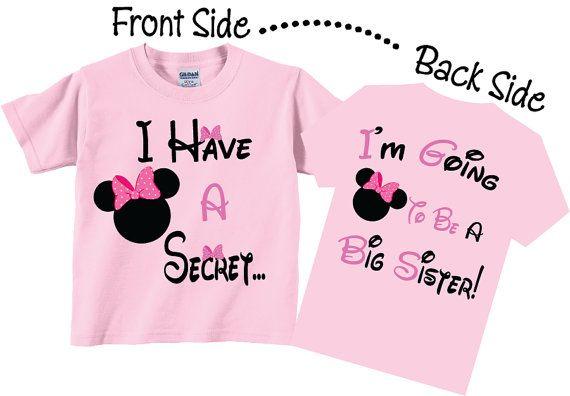 b2af517e8608a I'm Going To be A Big Sister Shirts - Minnie Mouse Disney Pregnancy  Announcement