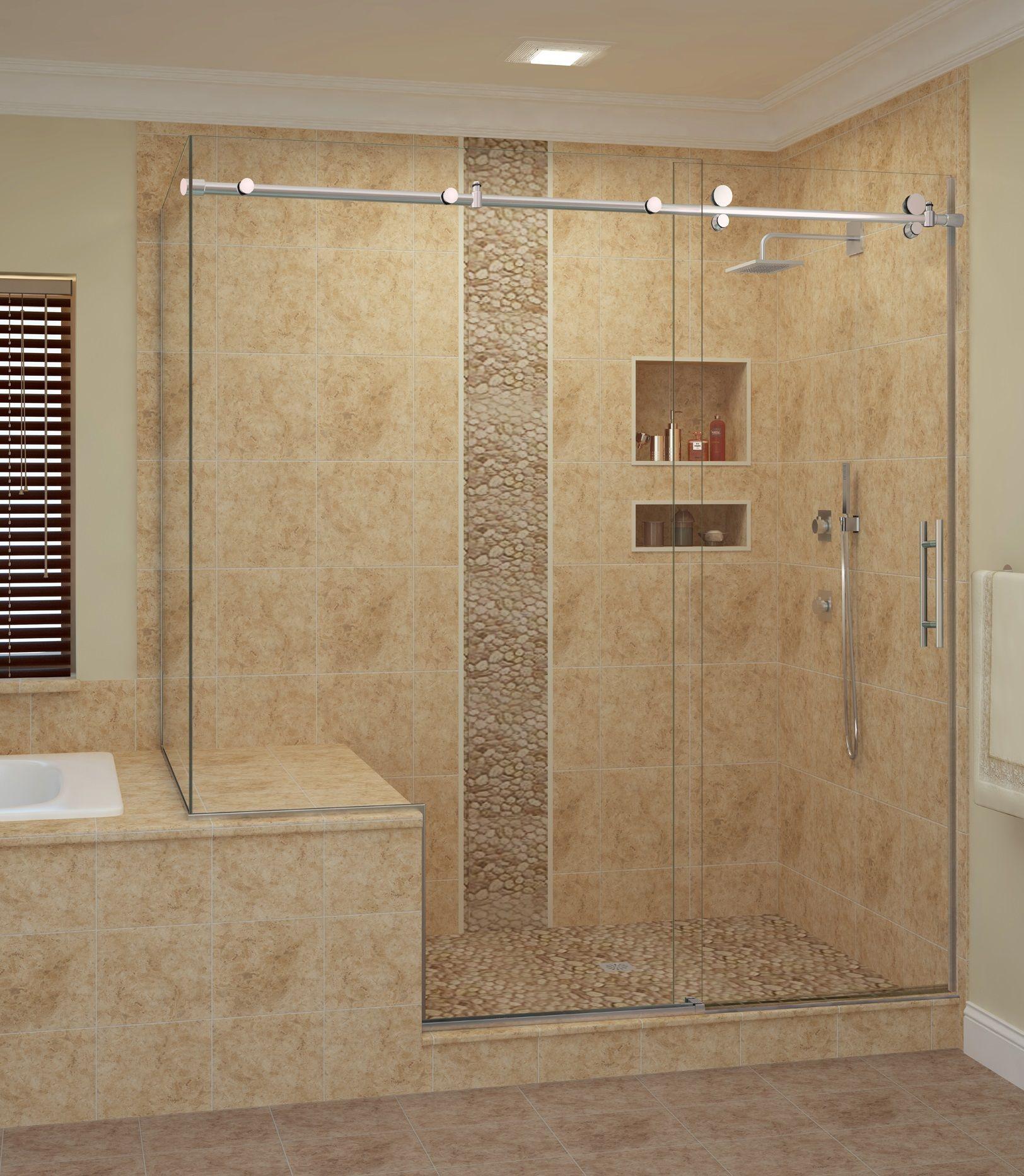 Eclipse Exposed Roller Doors Bathroom Shower Enclosures Small Bathroom With Shower Shower Doors