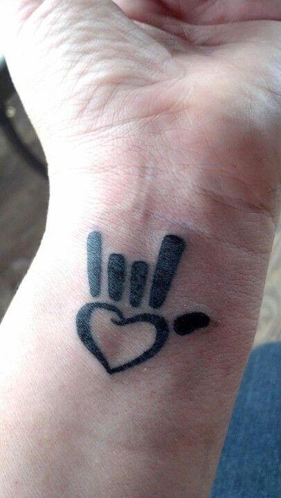 I Love You Rock Star Tatto Love Yourself Tattoo Sign Language Tattoo Tattoos For Kids