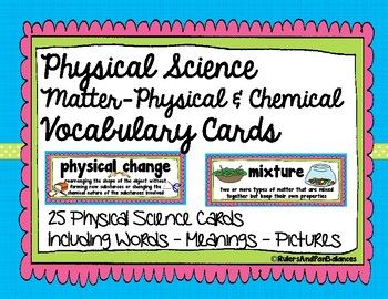 Science Word Wall Vocabulary Cards For Your Matter