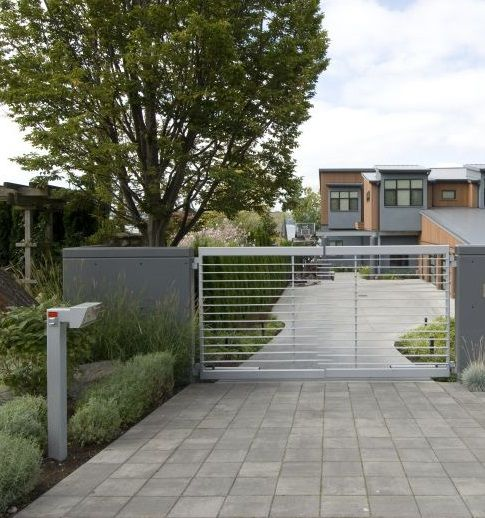 This Modern Driveway Gate Is The Epitome Of Chic Located
