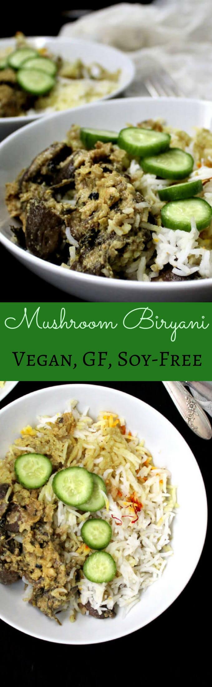 Vegan Mushroom Biryani Recipe Biryani recipe, Food