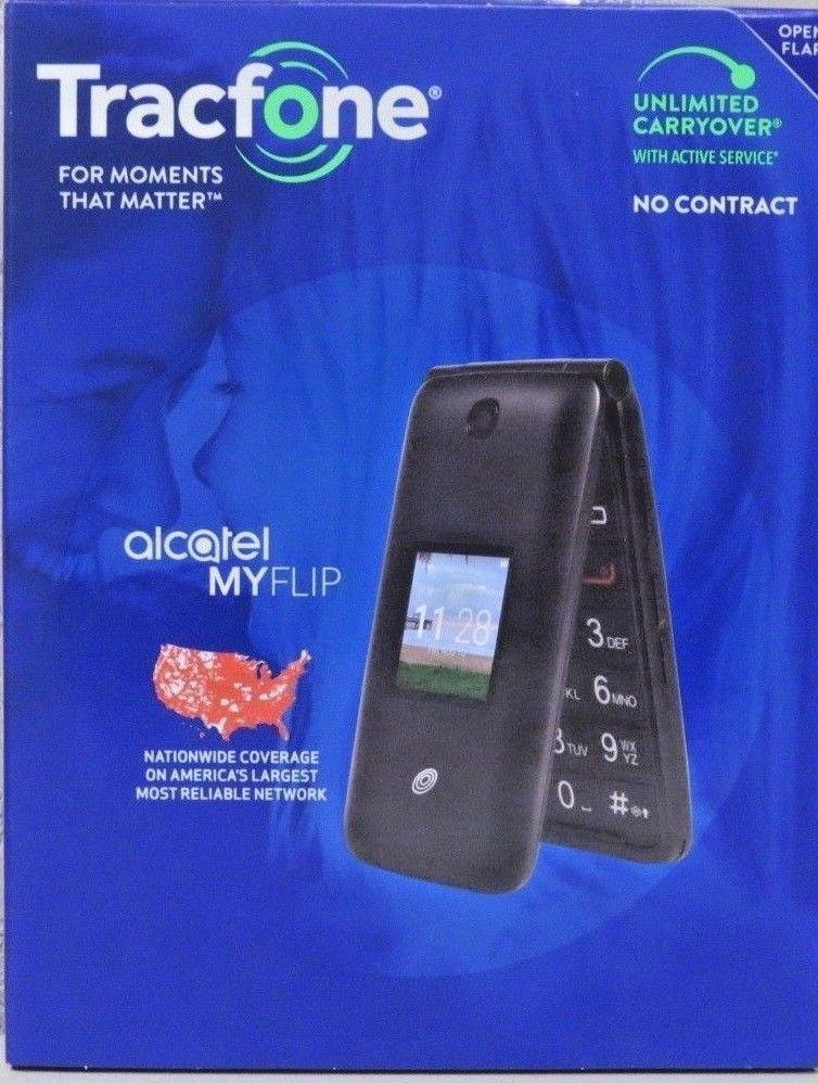 TracFone - Alcatel MYFLIP A405DL - Prepaid Flip Phone NEW & FREE