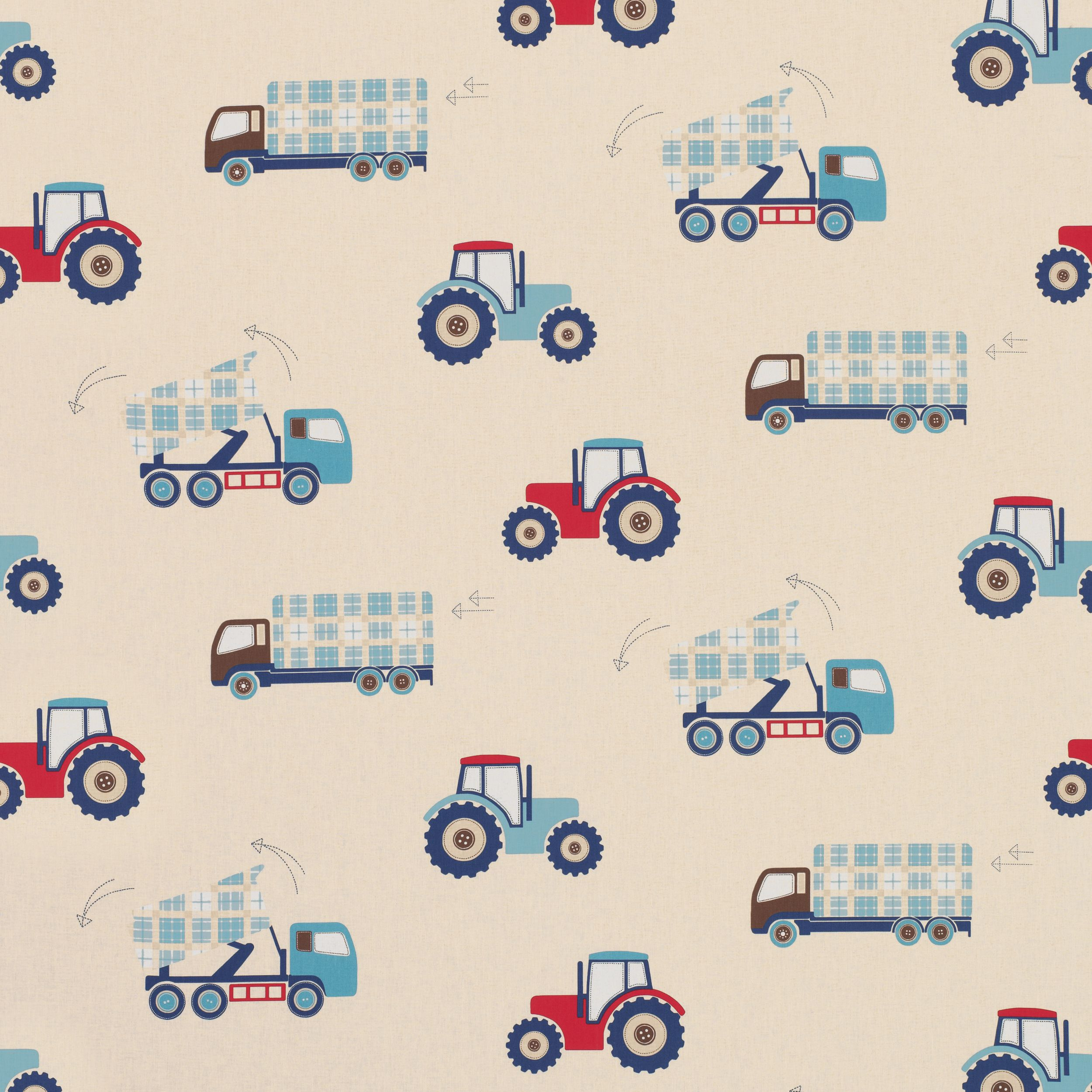 Tractors and trucks childrens fabric daniel 39 s bedroom for Fabric for boys room