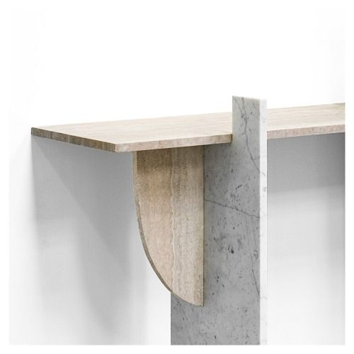 styletaboo: Robert Stadler - cut_paste #1 (marble and aluminium console table, 2013) Airspace exhibition at Carpenters Workshop [Paris, 2015]