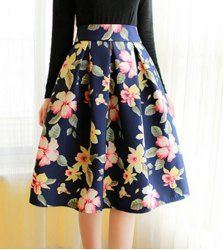 f173cfa25 Vintage High-Waisted Floral Print Ruffled Midi Skirt For Women (RED,L) |  Sammydress.com Mobile