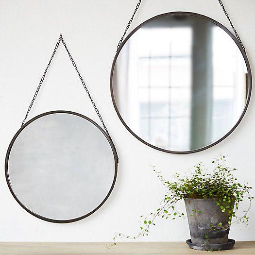 Hanging Circle Mirror Cottage In 2019 Round Hanging