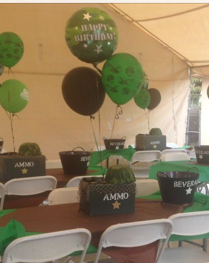 camouflagearmy centerpiece armycamouflage party ideas