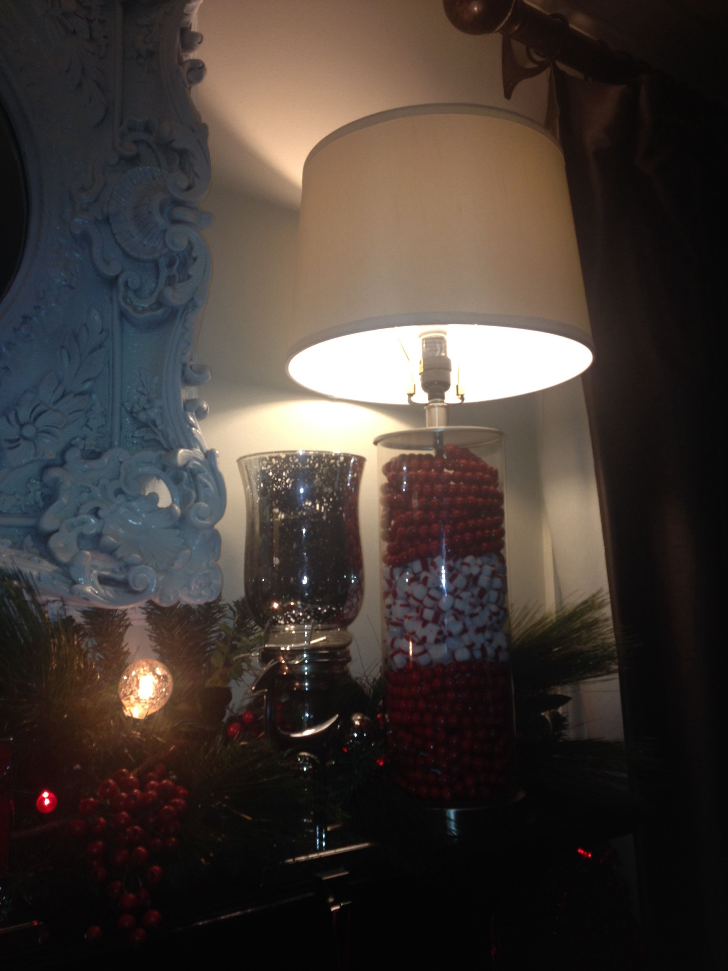 My fillable lamps at Christmas