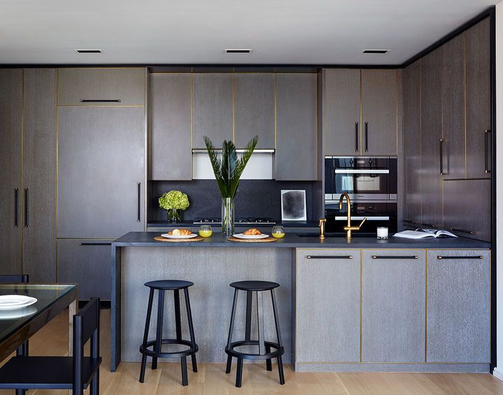 Contemporary Kitchen with beautiful cerused wood   ASH NYC ...