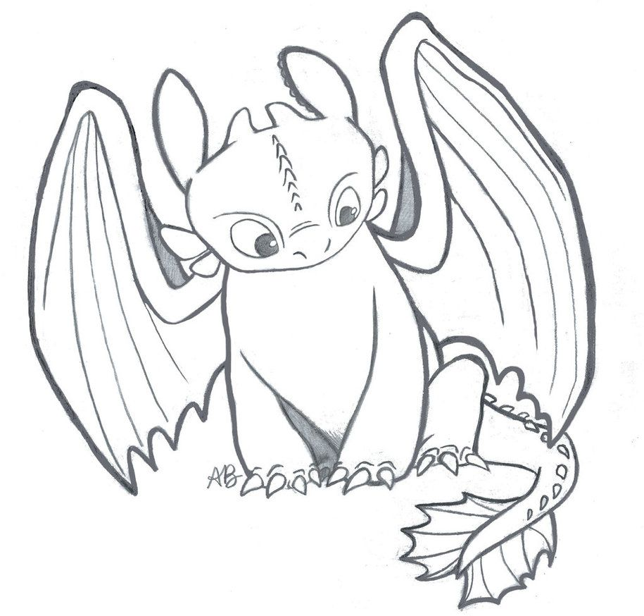How To Train Your Dragon Toothless The Night Fury By Alexbee1236 On Deviantart Dragon Coloring Page Dragon Sketch Dragon Drawing