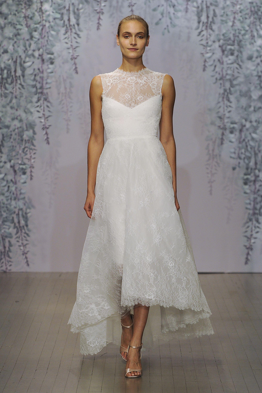 Monique Lhuillier Monique Lhuillier Wedding Dress Short Wedding Dress Modern Short Wedding Dress
