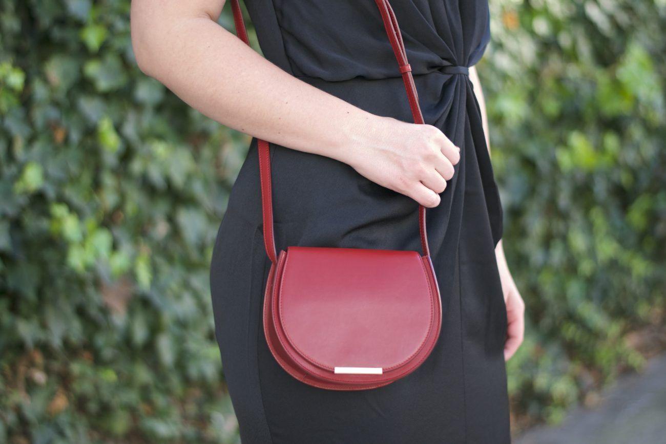 Britt+Whit| Mini red saddle bag