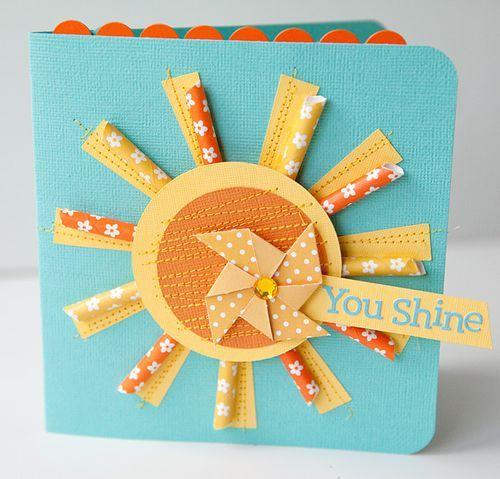 You shine sun card