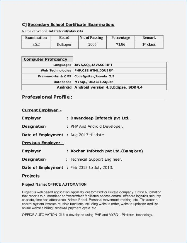 Resume Format 5 Years Experience Pinterest Resume format and - a resume format