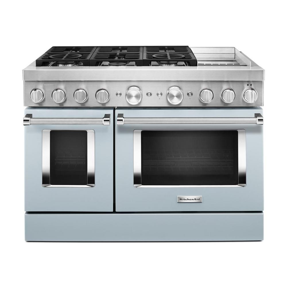 Kitchenaid 48 in 63 cu ft double oven dual fuel range