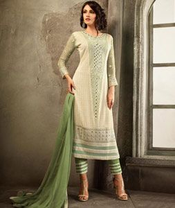 90e9a4e17ecaa Buy Beige Chiffon Pakistani Style Suit 76010 online at lowest price from  huge…