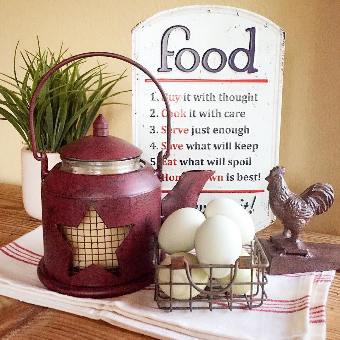 Tractor Supply Home Decor.Fresh Eggs Plus This Cute Tin Sign And Kettle Candle From