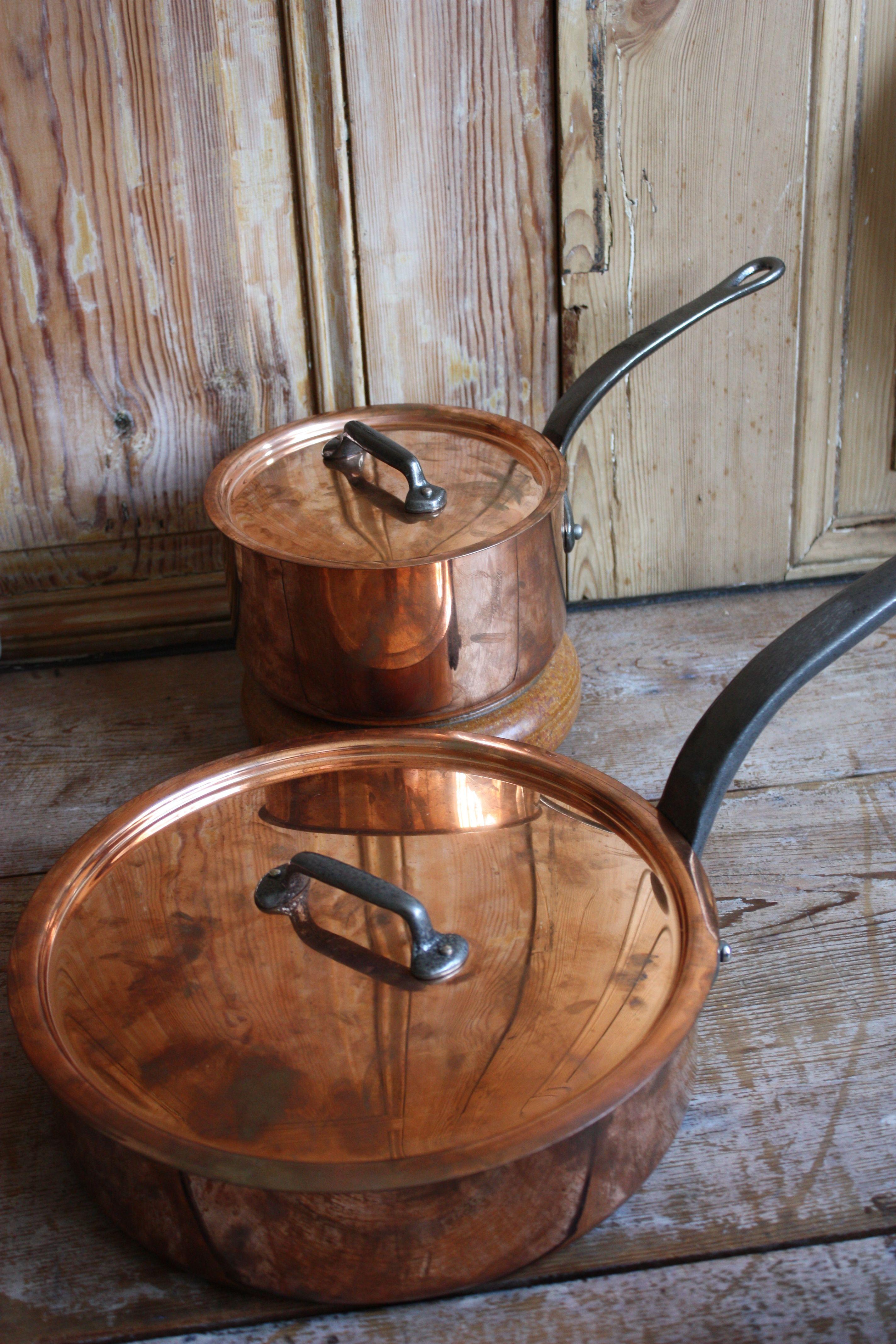my new mauviel c250 pots. i am a happy girl, indeed!   Sartenes ...