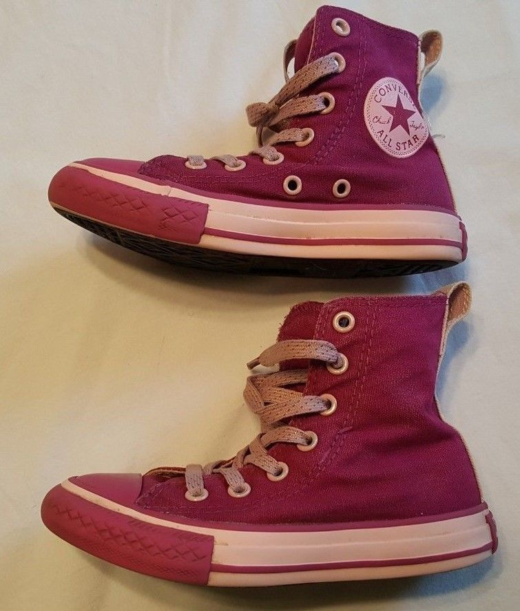 CONVERSE ALL STAR GIRLS SNEAKERS SIZE 11 11c SHOES pink sneakers Hi-Top no- 4789b8e92
