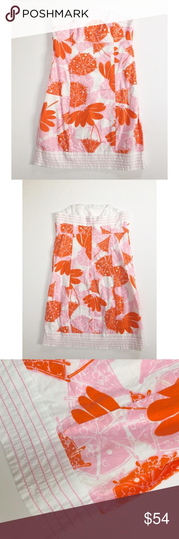 Lilly Pulitzer Citrus Print Strapless Dress Lilly Pulitzer strapless ...