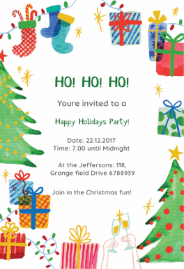 best holiday ever free printable christmas invitation template