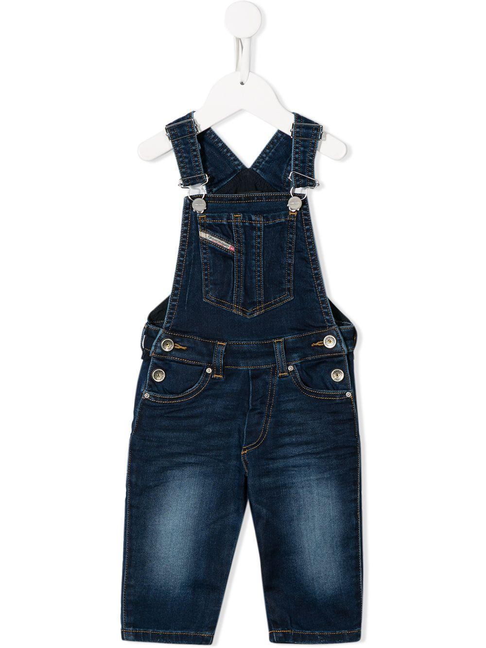 Diesel Babies Logo Dungaree Jeans In 蓝色 Modesens