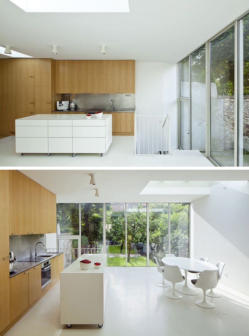 8 Examples Of Kitchens With Movable Islands That Make It Easy To