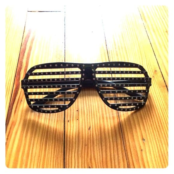 Black party glasses Black party glasses with Rhinestones Accessories Glasses