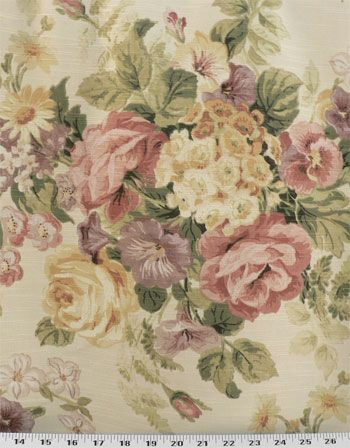 Vintage Floral Blossom Drapery Fabric Fabric Flowers Vintage Floral