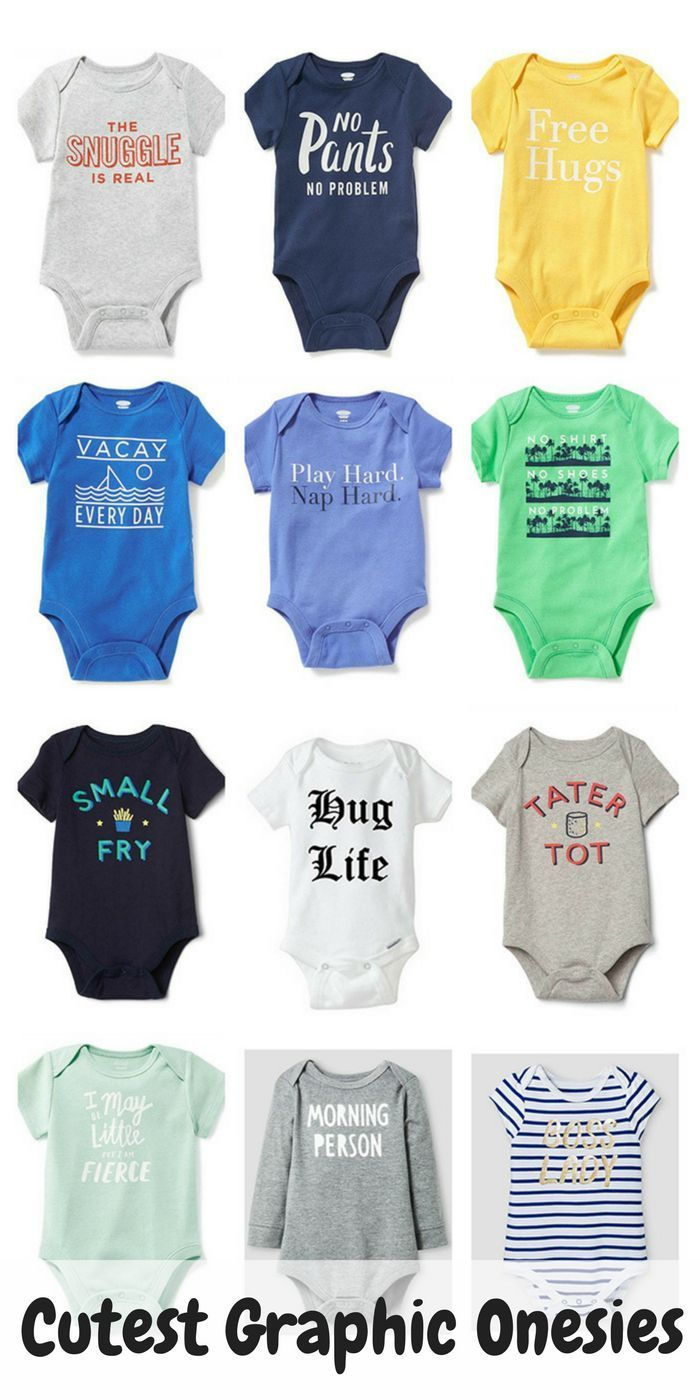 Cute Graphic Onesies for Baby
