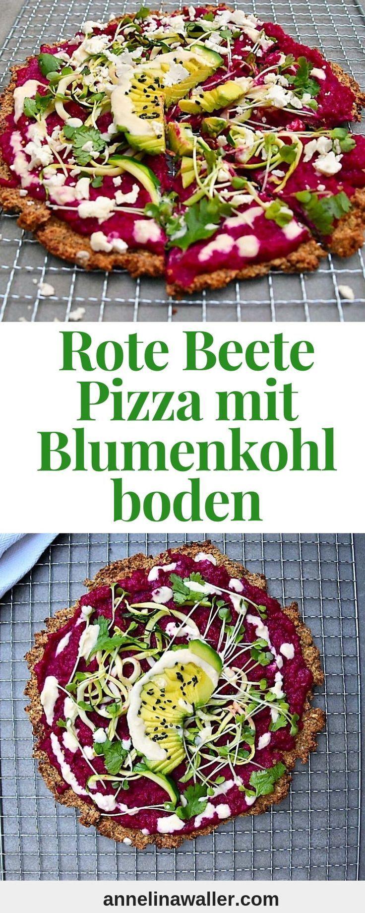 Rote Bete Kartoffel Pizza #veganerezeptemittag