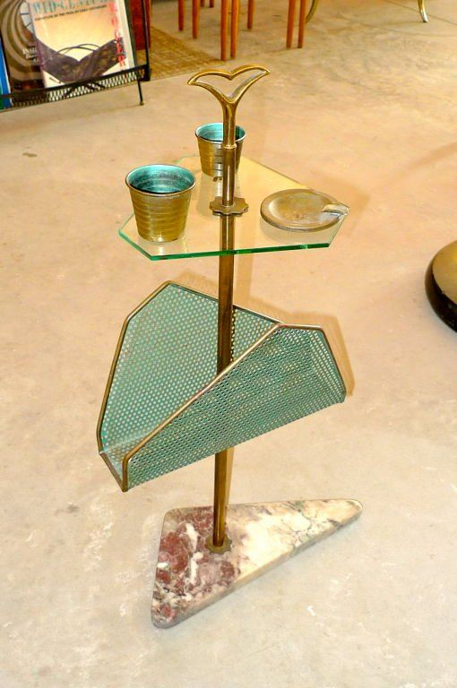 1950's Italian Magazine & Smoking Stand
