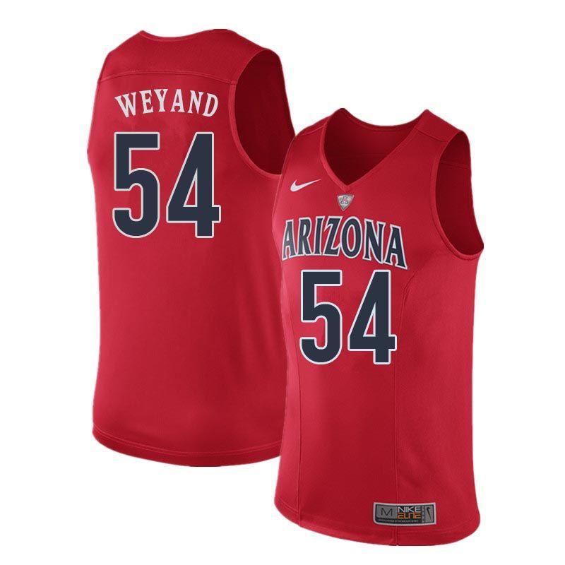 Men Arizona Wildcats #54 Matt Weyand College Basketball Jerseys ...