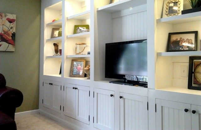 living room built in cabinet. I like the open areas above for ...