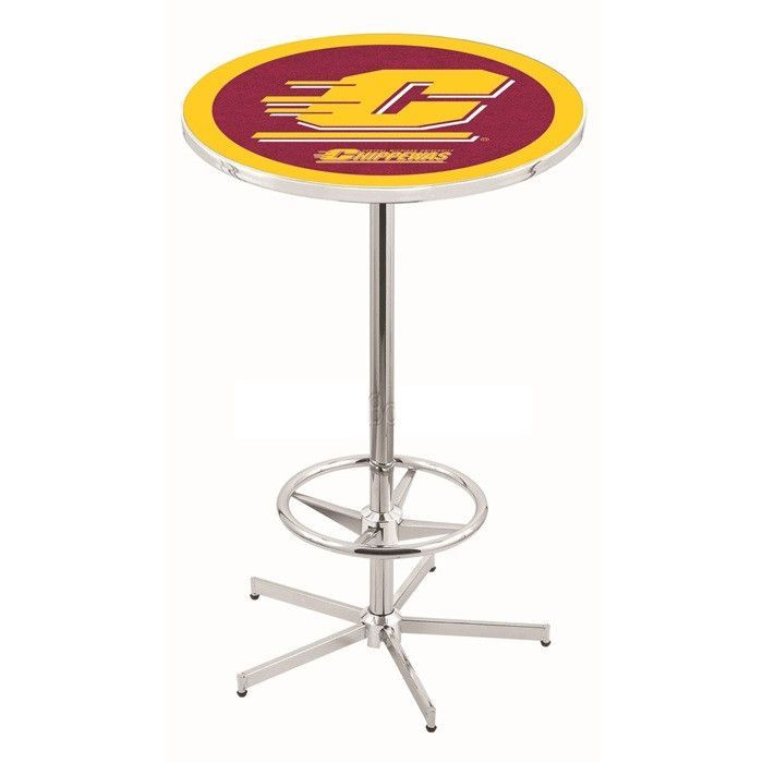 Central Michigan Chippewas Retro-Style-Base Bar Table