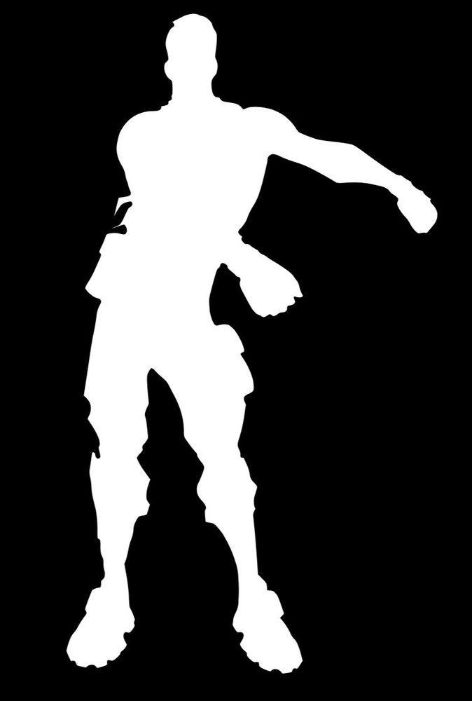 brand new white floss dance fortnite vinyl decal 3 5 inches tall free shipping ebay - danse break dance fortnite